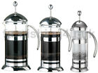 NEW RICO CAFETIERE CHROME GLASS COFFFEE MAKER PLUNGER PRESS BREWER 2, 4, 6 CUP