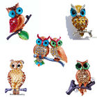 Fashion 5Styles Owl on Branch Brooch Pin Rhinestone Crystal Womens Party Gifts