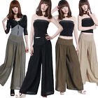 New Fashion Women Comfy Yoga Rollover Bootleg Flares Trousers Pajamas Pants