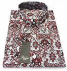 MENS RELCO RED PAISLEY CLASSIC MOD SHIRT BUTTON DOWN COLLAR INDIE SIZE S--XXL