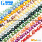 Assorted Colors 6-7mm Freeform Gemstone Pearl Beads Free Shipping Strand 13""