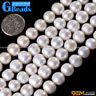 "9-10mm pretty cultured pearl gemstone loose beads strand 15"" for jewelery making"
