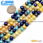 6-7mm round natural freshwater pearl gemstone loose beads strand 15""