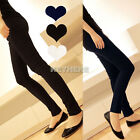K0E1 New Korea Womens Fashion Stretchy Slim Trousers Leggings Pencil Ninth Pants
