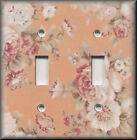 Light Switch Plate Cover - Rose Bouquet - Peach - Floral Home Decor