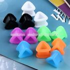 Pick Gauge 12pc Mix Color Flexible Silicone Triangle Ear Tunnels Plugs Stretcher