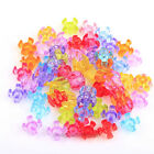 Mixed Color Transparent Plastic Assorted Shape Spacer Beads for Bracelet Making