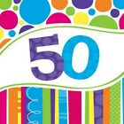 50th Birthday Napkins Balloons Invitations Banner Plates Cupcake Stand Cases etc