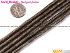 """jewelry making Natural 4x5mm 4x6mm column smooth gold pyrite gemstone beads 15"""""""