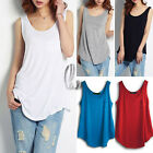 Celeb Style Slouchy Sexy Uneven Hem Long Loose Singlet Tank Top Vest Tee T065