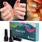 6pc Nail Art Gift Set Soak Off UV Color Gel Polish UV LED Tip Glitter Decoration