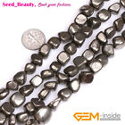 """Jewelry making 3/4/5/6/7/8/12/14/18mm natural freeform pyrite loose beads 15"""""""