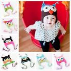 Fashion Cute Baby Boy/Girl/Toddler Owls Knit Crochet Hat Beanie Cap 9 colors