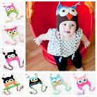 Cute Baby Boy/Girl/Toddler Owls Knit Crochet Hat Children Beanie Cap 9 colors