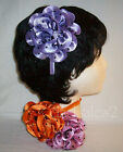 Polka Dot Mesh Satin Flower Head Band #6680 ***Available in 6 Colors***