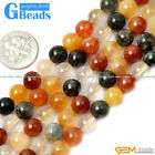 """6/8/10/12/14mm round mixed color quartz jewelry making GEM beads 15"""" G-Beads"""