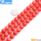 "Orange Coral Gemstone Round Beads For Jewelry Making 15""2mm 3mm 4mm 5mm 6mm 7mm"