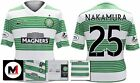 *13 / 15 - NIKE ; CELTIC HOME SHIRT SS + ARM PATCHES / NAKAMURA 25 = SIZE*
