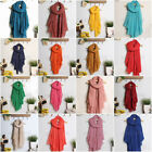 Fashion Pure Color Voile Cotton Crinkle Boys Girl's Korean Style Warm Scarf Warp