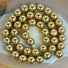 "Golden Hematite Round Gemstones Looae Beads 16"" 3mm 4mm 6mm 8mm 10mm"