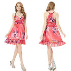 Sexy Halter V-neck Chiffon Floral Printed Cocktail Party Club Women Dress 03357