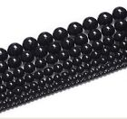 wholesale 4mm,6mm,8mm,10mm,12mm black Agate Jewelry Making Spacer Beads