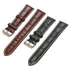 18/20/22mm Men Crocodile Alligator Grain Leather Strap Wristwatch Watch Band