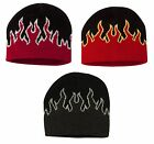 PEACHES PICK - SPORTSMAN ACRYLIC KNIT, FLAME BEANIE, CAP, RACING, SPORT, FLAMES