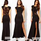Sexy Women Slim Long Maxi lace Gown Evening Cocktail Party Dress Nightclub Dress