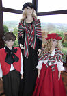 VICTORIAN LADY 3 PIECE PEASANT COSTUME FANCY DRESS SZ 8-30