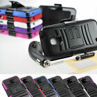 For ZTE Majesty Rugged Hybrid Stand Holster Case Car Charger Screen Film Pen