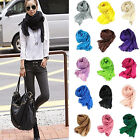 Women Girls Scarf Candy Color Crinkle Scarves Wrap Shawl Stole Voile Cashmere