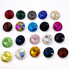 15PCS XILION #1122 ELEMENTS Crystal Rivoli Beads 14mm  Variety of colors