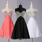 Beaded Women Party Evening Gowns Formal Bridesmaid Dress Wedding Dress Size 2-16