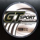 100M Nylon Line Mono Clear Super Strong GT Sport Sea Fishing Line From Japan