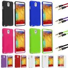 Rubberized Hard Case+3.3ft Auxiliary Cable+SP For Samsung Galaxy Note 3 III