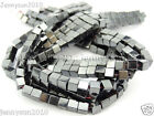 AAA Healing Natural MAGNETIC Hematite Gemstone Square Cube Beads 16'' 3mm 4mm