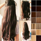 Newly 3/4 Full Head Clip In Hair Extensions Long Straight Curly Smooth Natural