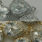 Rhinestone Crystal Pendants 16K Gold Silver Plated Charm Necklace Earrings #7