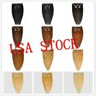USA STOCK!18inch remy human hair clip In Extensions 7pcs&70g ,3-5 days delivery!