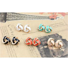 Lacquered Knot Stud Earrings Elegant Europe Style Lady Fashion Jewellry JW132