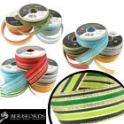 Berisfords Ribbons Striped Kingdom, Glitter And Solid Colours, 16mm, 25mm, 40mm
