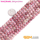 "Natural round red rhodonite gemstone loose beads 15"" 6/8/10/12/14/16/18/20mm"