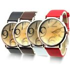 Unisex Stainless Steel Fashion Leather Womens Mens Quartz Watch Wristwatch New