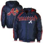 Atlanta Braves Slot Receiver Full Zip Jacket - Navy Blue