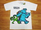 Monsters University Cotton White Top T-Shirt Size F age 14-16