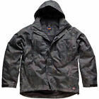 MENS DICKIES JACKET COAT BREATHABLE WATERPROOF HOOD IN COLLAR SIZE ARNDALE