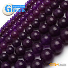"Dark Purple Jade Round Beads For Jewelry Making Free Shipping 15"" 4mm 6mm 8mm"