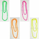 Neon Beads Pink Orange Green Yellow Rave 1980s Beaded Tropical Necklaces Party
