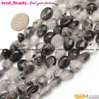 "7-9x10-12mm freeform oval jewelry making gemstone beads 15"" 30 materials select"